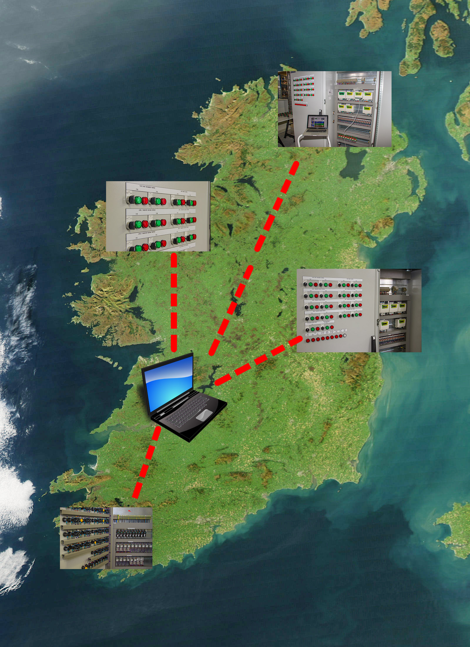Remote Monitoring Map of Ireland